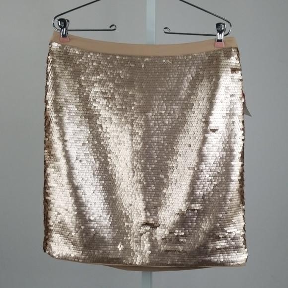 Gold mini skirts size 25 Cece Skirts Cece Rose Gold Sequin Mini Skirt Size Poshmark